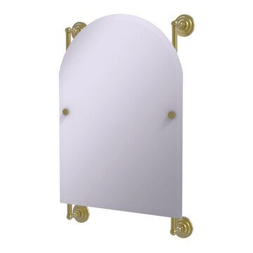 PQN-27-94-SBR Prestige Que New Collection Arched Top Frameless Rail Mounted Mirror, Satin Brass