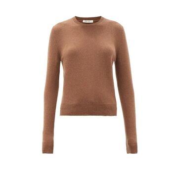 The Row - Arturo Round-neck Cashmere Sweater - Womens - Brown