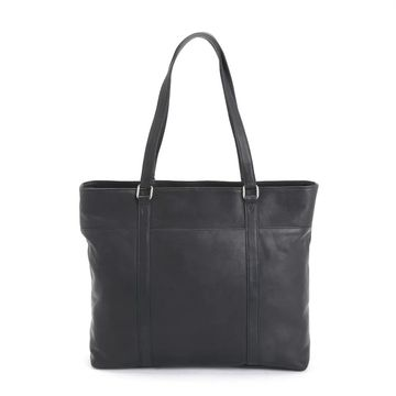 Royce Leather Handcrafted Colombian Leather Luxury Carryall Tote Bag (BLACK)