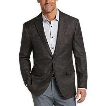 Egara Charcoal Check Slim Fit Sport Coat