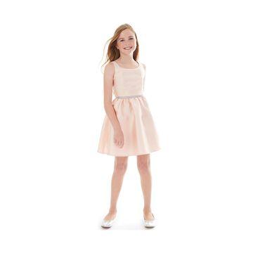 Big Girls Embellished-Waist Fit & Flare Dress