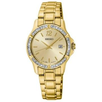 Seiko Women's Gold-Tone Stainless Steel Bracelet Watch 28mm
