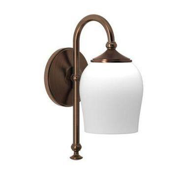 Gatco Tavern 1-Light Wall Sconce in Bronze with Glass Shade