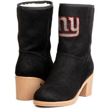 Women's New York Giants Cuce BlackSideline Stacked Heel Boots