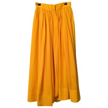 Sonia Rykiel Yellow Silk Skirts