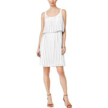 NY Collection Womens Popover A-line Dress