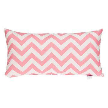 Swizzle Pink Chevron Rectangle Pillow