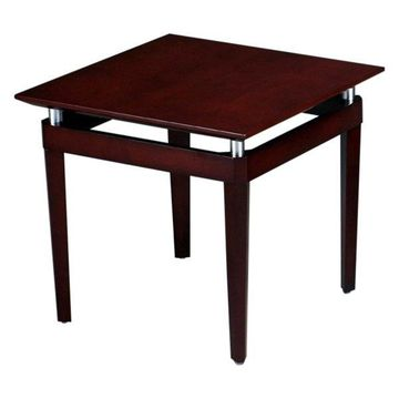 Mayline Napoli Square End Table, Sierra Cherry
