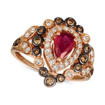 Le Vian Strawberry & Nude Passion Ruby (5/8 ct. t.w.) & Diamond (5/8 ct. t.w.) Ring in 14k Rose Gold