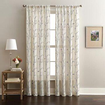 CHF Lynette Poletop Window Curtain, Grey, 50X84