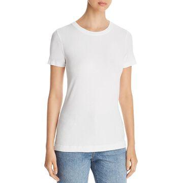 Three Dots Womens Ribbed Casual T-Shirt