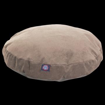 Majestic Pet Villa Round Dog Bed Velvet Removable Cover Pearl Medium 36