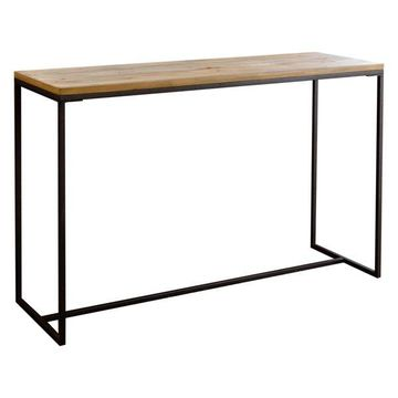 Abbyson Living Jensyn Industrial Sofa Table, Natural