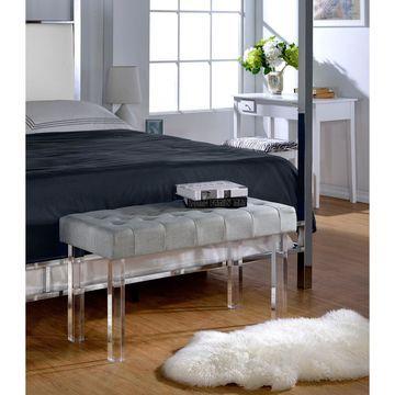 Acme Furniture Bagley Linen Bench