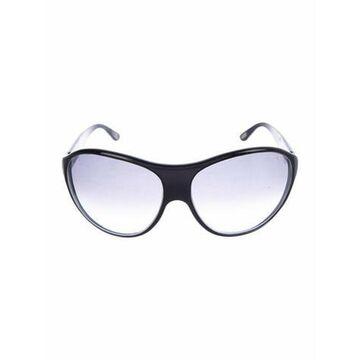 Acetate Tinted Round Sunglasses Black