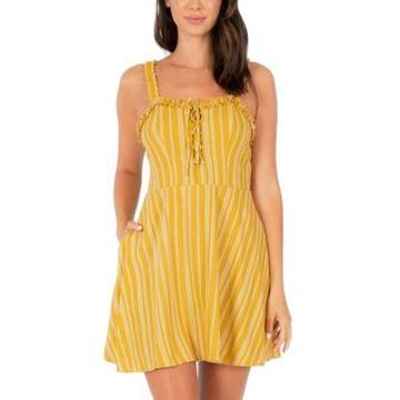 Speechless Juniors' Striped Fit & Flare Dress
