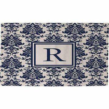 Thumbprintz Damask Monogram Rug, Blue