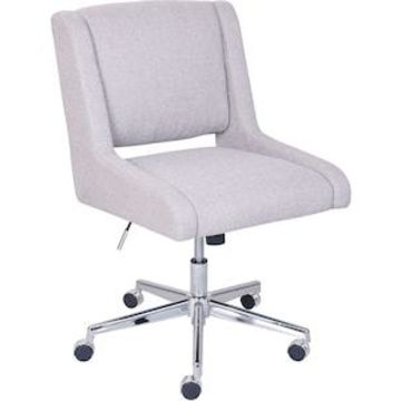 Broyhill Lynx Fabric Computer and Desk Chair, Oatmeal (46436) | Quill