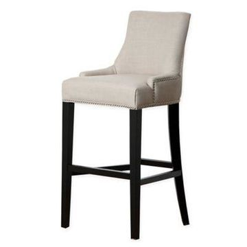 Abbyson Living Newport Bar Stool in White