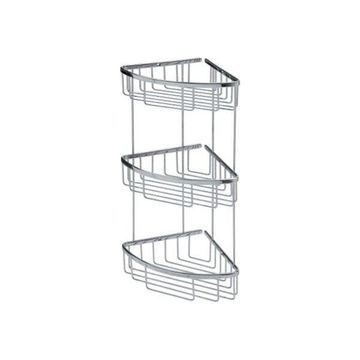 WS Bath Collections Filo 50033 Filo Shower Basket Accessory, Polished Chrome