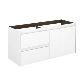 WS Bath Collections Ambra 48-in Glossy White Bathroom Vanity Cabinet   AMBRA120DBL WG BASE