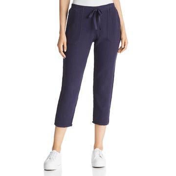 Three Dots Womens Gauze Lightweight Ankle Pants