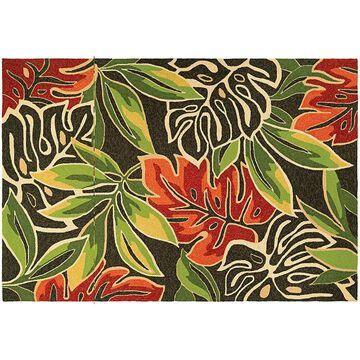 Couristan Covington Areca Palms Indoor Outdoor Rug, Brown, 2X4 Ft
