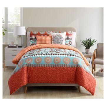 Burnt Ezra Printed Medallion Quilt Set () 5pc - VCNY