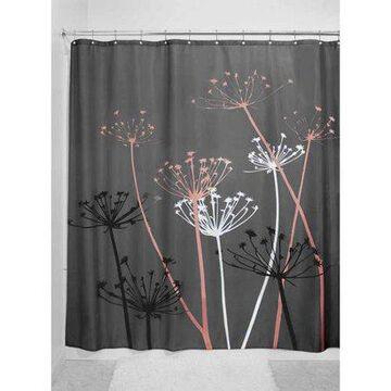 InterDesign Thistle Fabric Shower Curtain, Standard 72