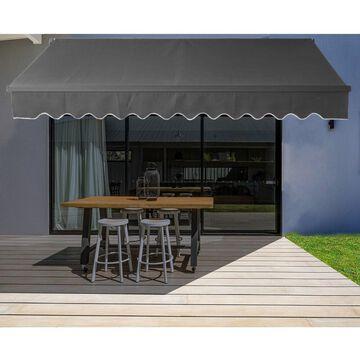 ALEKO 13'x10' Motorized Black Frame Retractable Home Patio Canopy Awning
