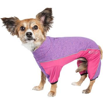 Pet Life Active Chase Pacer Heathered Performance Pink Dog Sweaters, Small