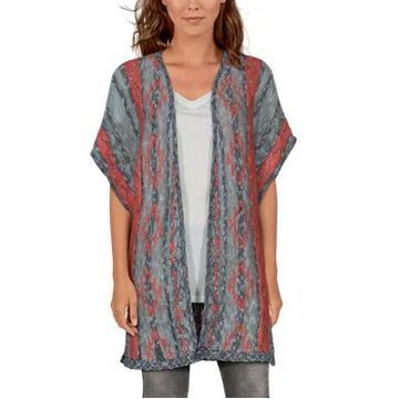 Natural Reflections Aztec Short-Sleeve Cardigan for Ladies