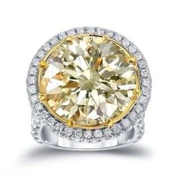 Auriya 22 1/ 2ct TW Certified Yellow Diamond Halo Engagement Ring (7)