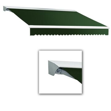 Awntech Destin 144-in Wide x 120-in Projection Forest Solid Vertical Patio Right Motor Retractable Awning in Green