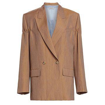 Nina Ricci Linen & Wool Double Breasted Jacket