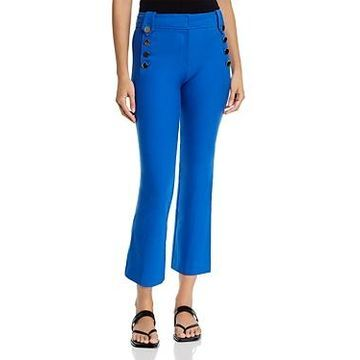 Derek Lam 10 Crosby Robertson Cropped Flare Sailor Pants