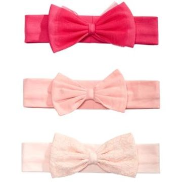 First Impressions Baby Girls 3-Pk. Bow Headbands, Created for Macy's