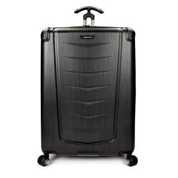 Traveler's Choice Silverwood 30-inch Brushed Metal Hardside Spinner Upright Suitcase