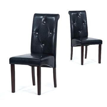 Warehouse of Tiffany Black Dining Room Chairs (Set of 8) (Extra Tall - Over 33 in. - Set of 8)
