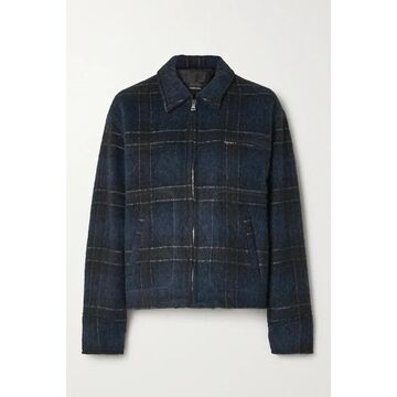 RtA - Reese Checked Wool-blend Jacket - Blue
