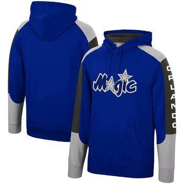 Men's Mitchell & Ness Blue Orlando Magic Hardwood Classics Fusion Pullover Hoodie