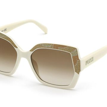 Emilio Pucci EP0140 24F Womenas Sunglasses White Size 56