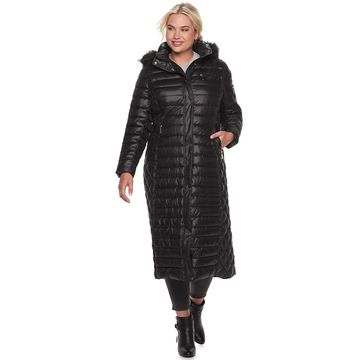 Plus Size Gallery Hooded Heavyweight Maxi Coat
