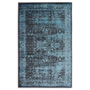 Unique Loom Istanbul Bosphorus 5' x 8' Area Rug in Blue/Black