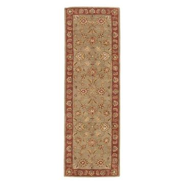 Jaipur Living Anthea Handmade Floral Taupe/Red Area Rug, 4'x16' Runner