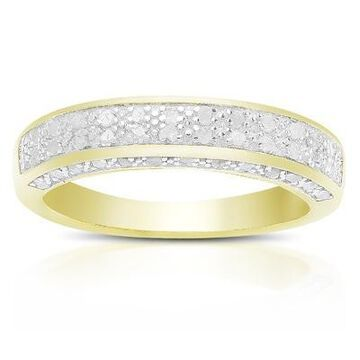 Finesque Sterling Silver 1/3ct TDW Diamond Wedding Band