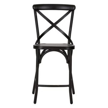 Liberty Furniture Vintage Series X Back Counter Chair, Black