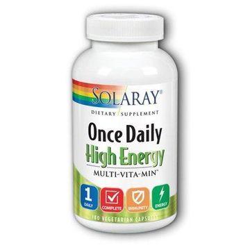Solaray Once Daily High Energy Multi-Vita-Min Capsules, 180 Ct