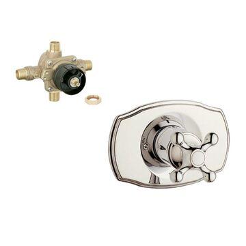 GROHE Polished Nickel Cross Shower Handle
