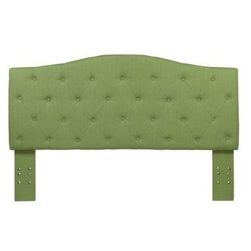 Furniture of America Bancroft Button Tufted Green Headboard